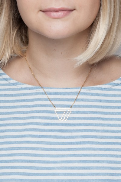 Necklace short Triangle layered