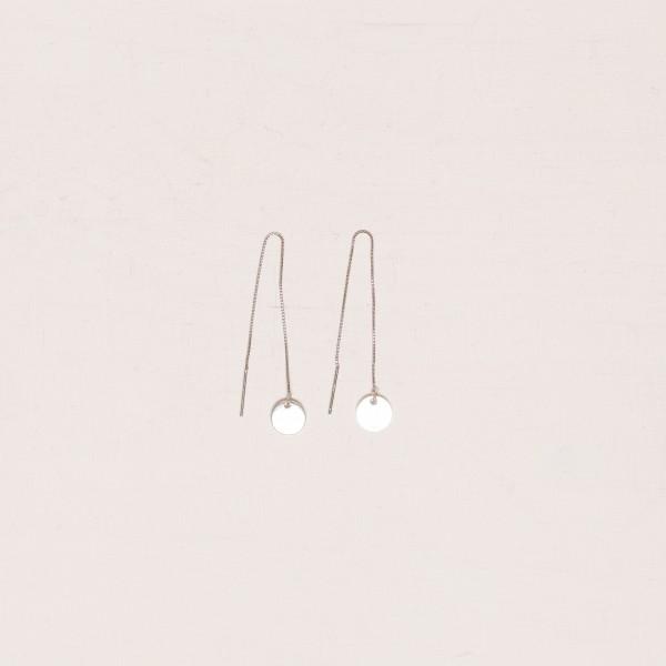 Thread Earring Circle Silver