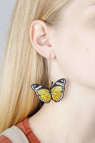 Earring hanging Butterfly ASSORTED