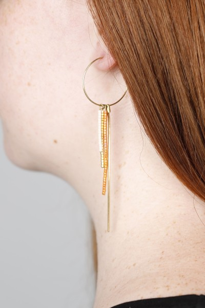 Hoop Earring Miyuki Beads ASSORTED