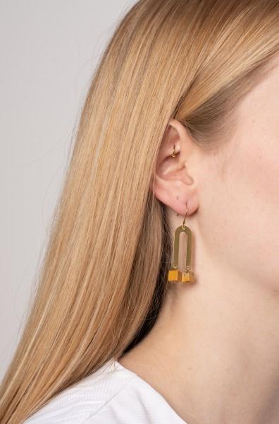 Gemstone Earrings U-Shape