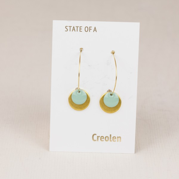 Earring Creole Simple Circle Enamel