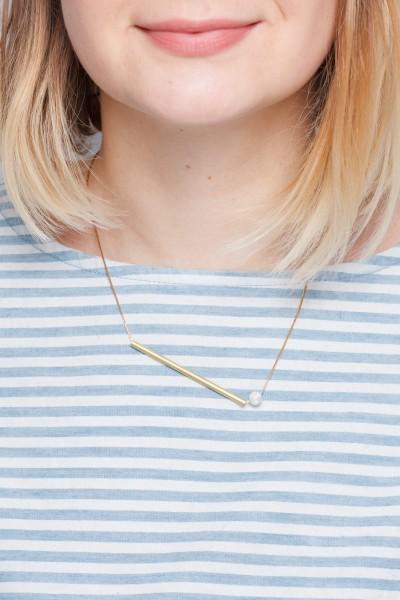 Necklace Gemstone short Tube