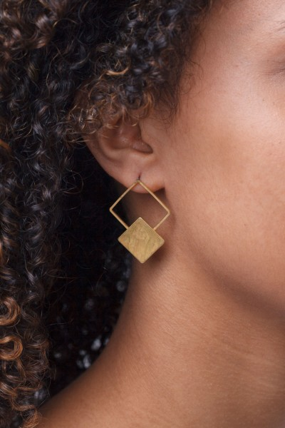 Earring Stud Squares
