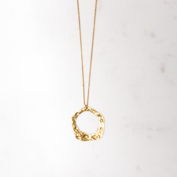 Necklace long Circle structured