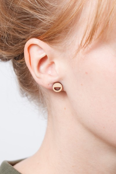 Earring Wooden Simple Natural Wood