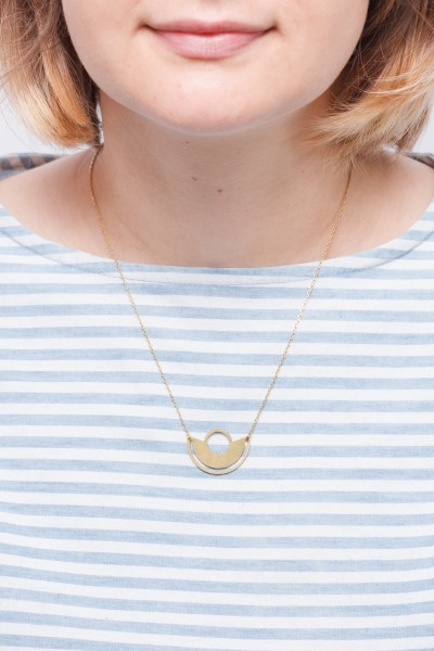 Necklace short Semi Circle Brass
