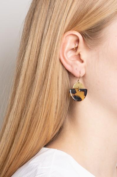 Earrings Acrylic semi circle