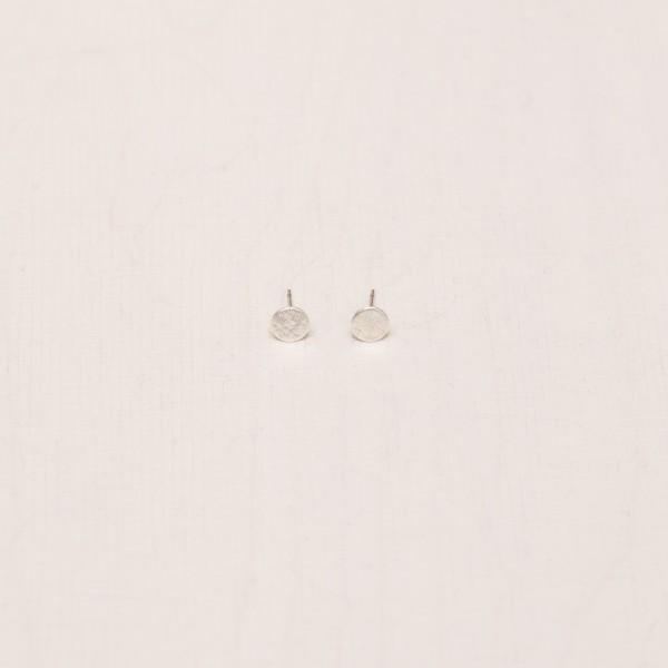 Earring Stud crosshatced