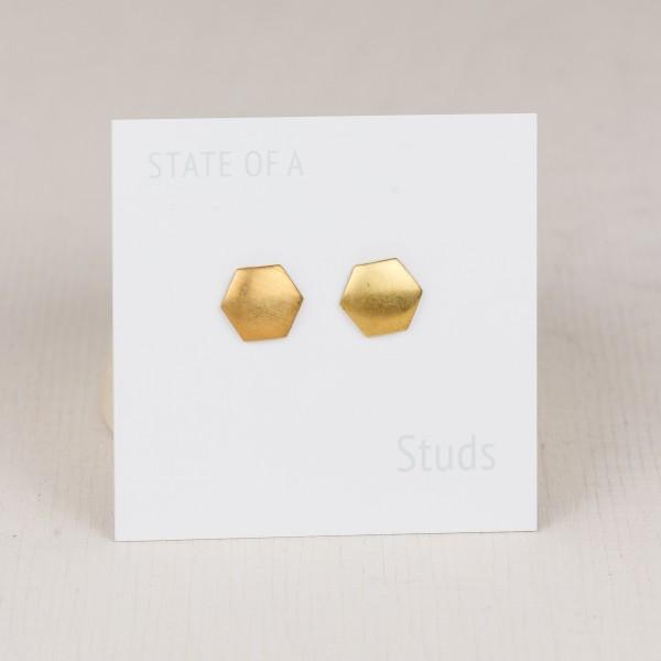 Studs Hexagon Brass