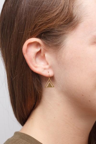 Earrings Circle or Triangle