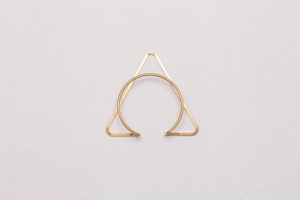 Cuff Bracelet Triangle Circle