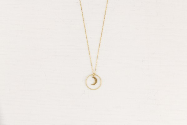 Necklace long Moon Crescent
