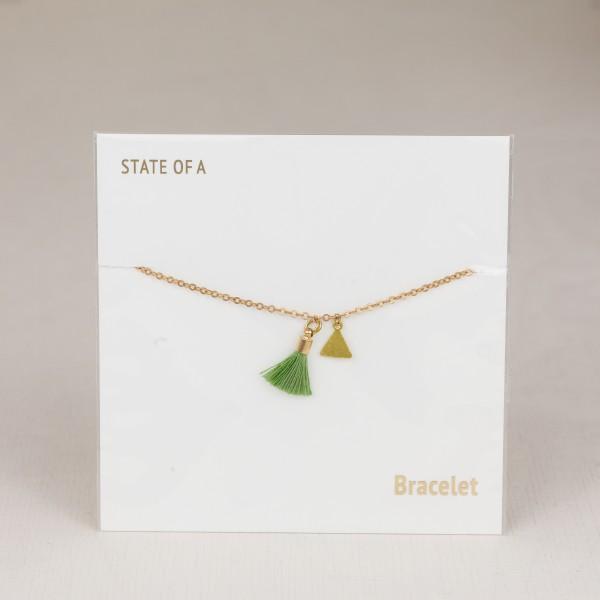 Bracelet Cotton Tassel Triangles