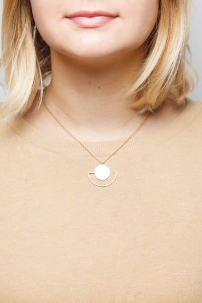 Necklace short Semi Circle Moon
