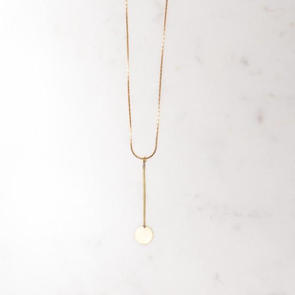 Necklace long Circle & Bar