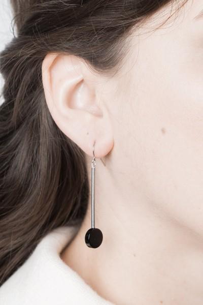 Earring Gemstone Bar & Gemstone silver
