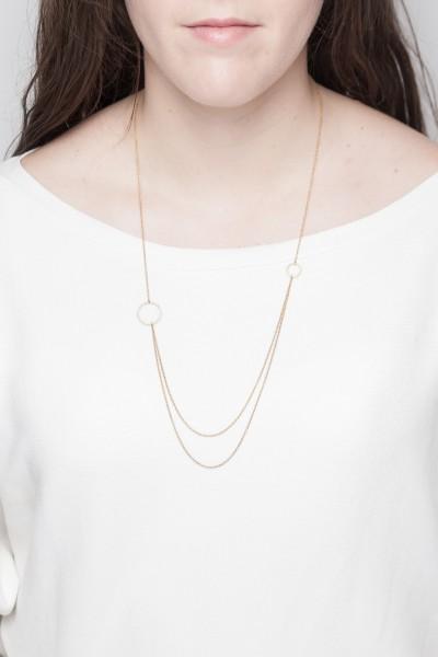 Necklace medium long geometric Shapes