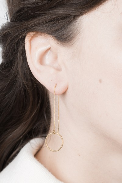 Thread Earring Line Circle