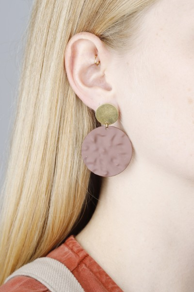 Earring Stud matte Circle