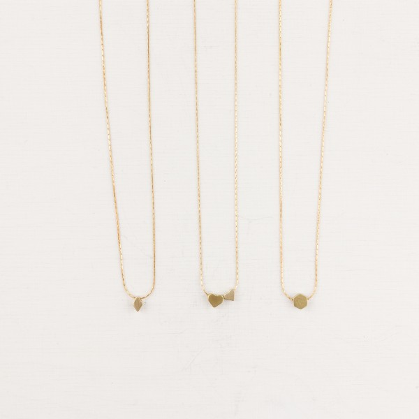 Necklace short Necklace simple Shapes