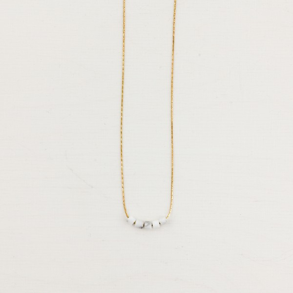 Necklace short Gem mini Tubes