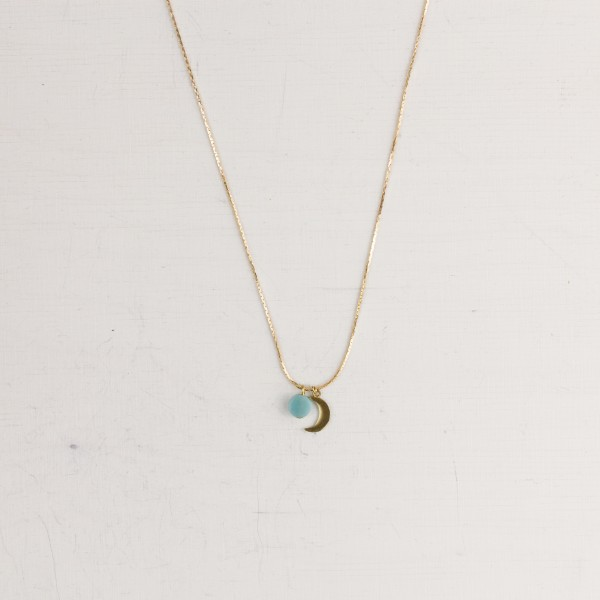 Gemstone Necklace short Moon & Gem