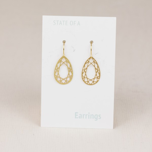 Earring Geometric Drop