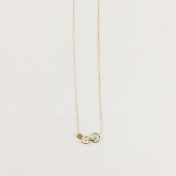 Necklace short Gemstone Circles