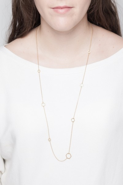 Necklace long geometric Shapes
