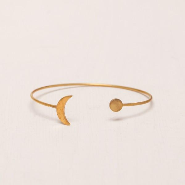 Cuff Bracelet Moon Crescent