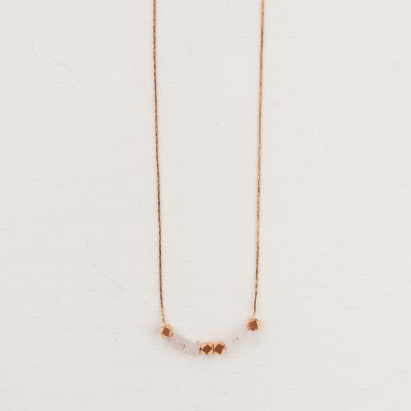 Necklace short Mini Gem and Copper
