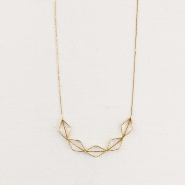 Necklace short Diamond Rhombus