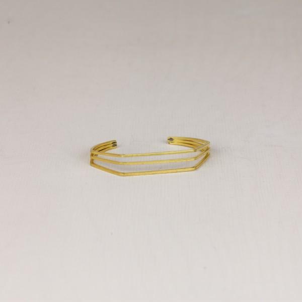 Cuff Bracelet Triple Line