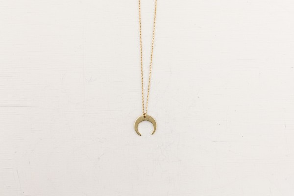 Necklace short Moon Crescent