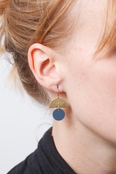 Earring matte Circle & Semi Circle