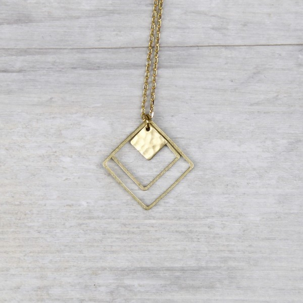 Necklace long Squares