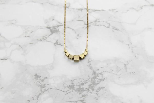 Necklace short Cubes