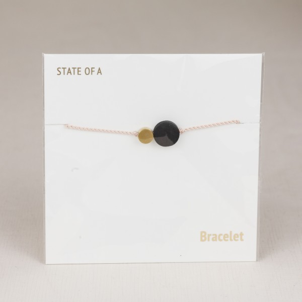Bracelet Wooden & Brass Circle