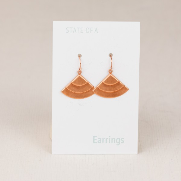 Earring Copper Fan