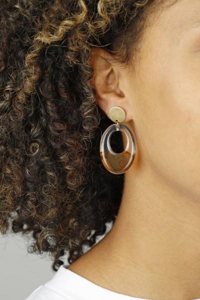 Earring Stud Acrylic Shape