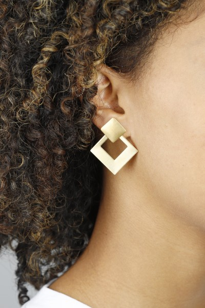 Earring Stud 2 in 1 Square