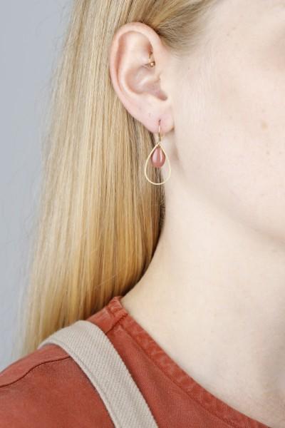 Earring hanging Oval Enamel