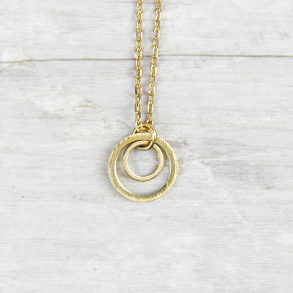 Necklace short two Circles