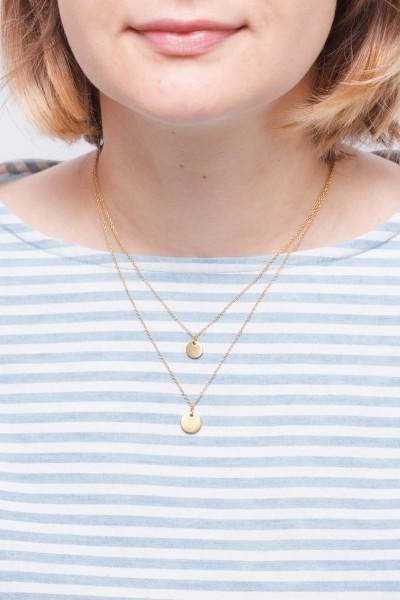 Necklace layered Circles