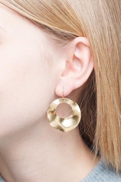 Earrings Waved Circles