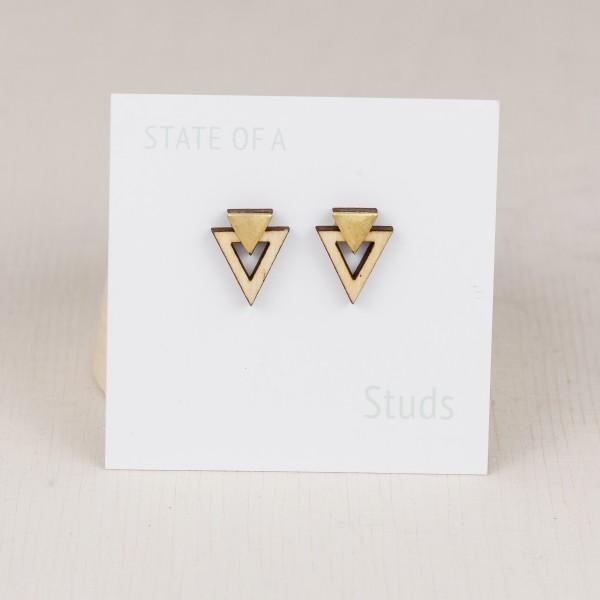 Earring Wooden Triangle