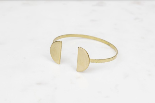 Cuff Bracelet Brass Semi Circle or Circles