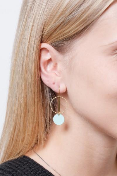 Earring matte Circle
