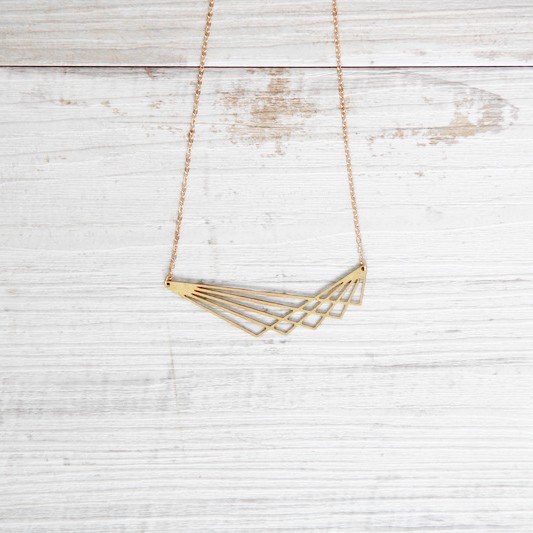 Necklace short Lines lasered